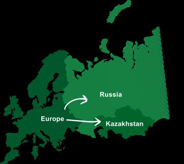 доставка сборного груза из Европы в Казахстан